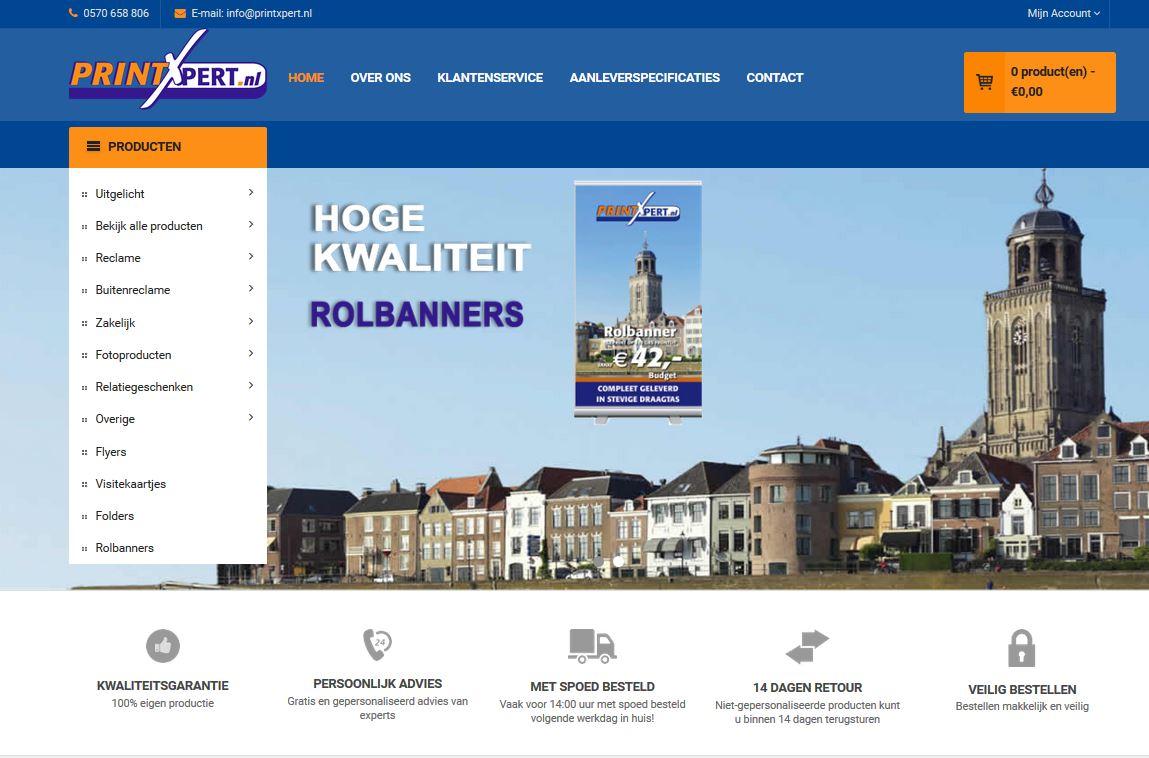 Printxpert webshop home